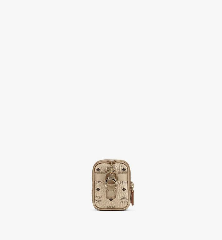 MCM Crossbody Charm in Visetos Gold MXZASVI13T1001 Alternate View 3