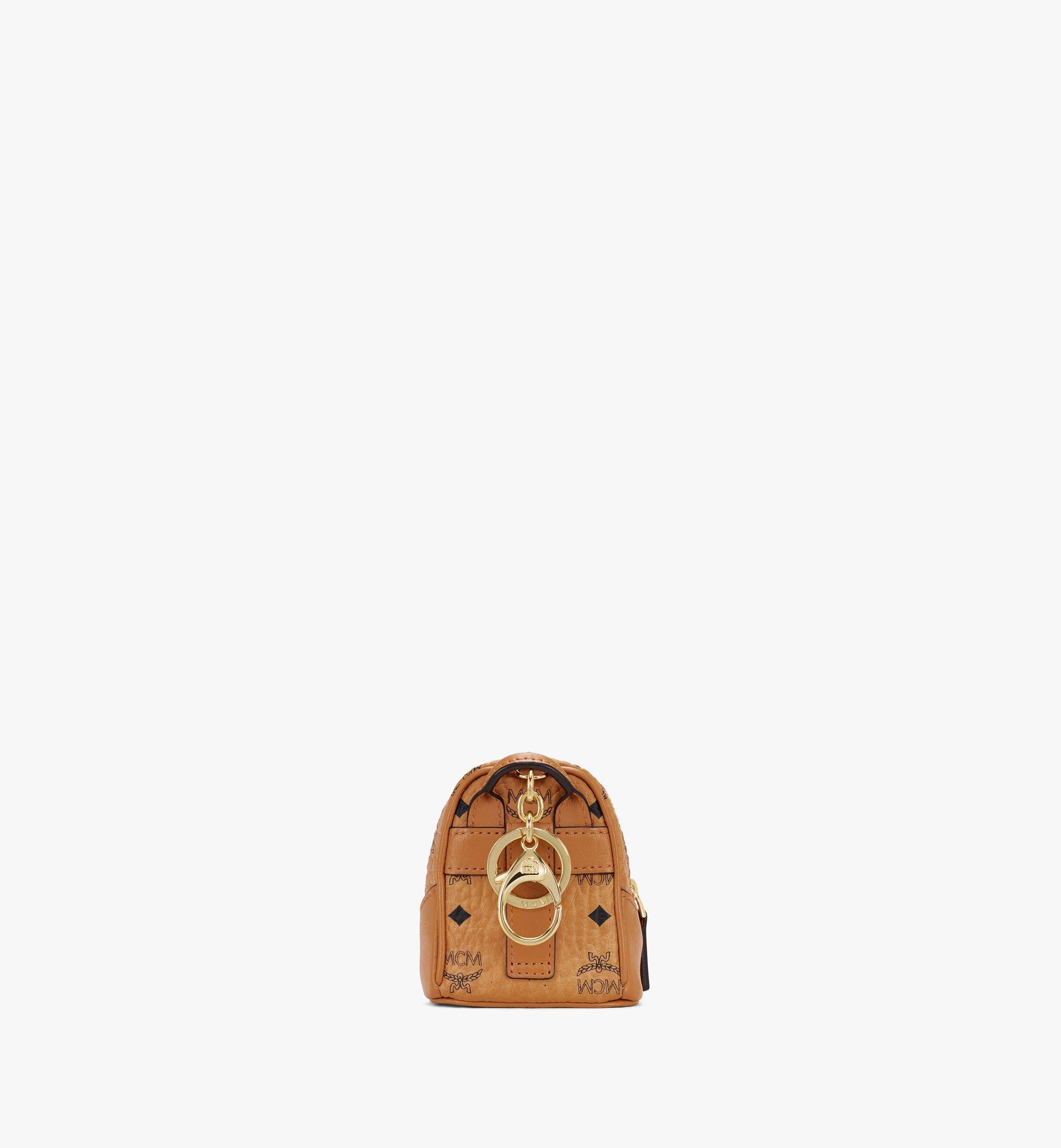 MCM Porte-clés sac à dos Neo Duke en Visetos Cognac MXZASVI14CO001 Plus de photos 2
