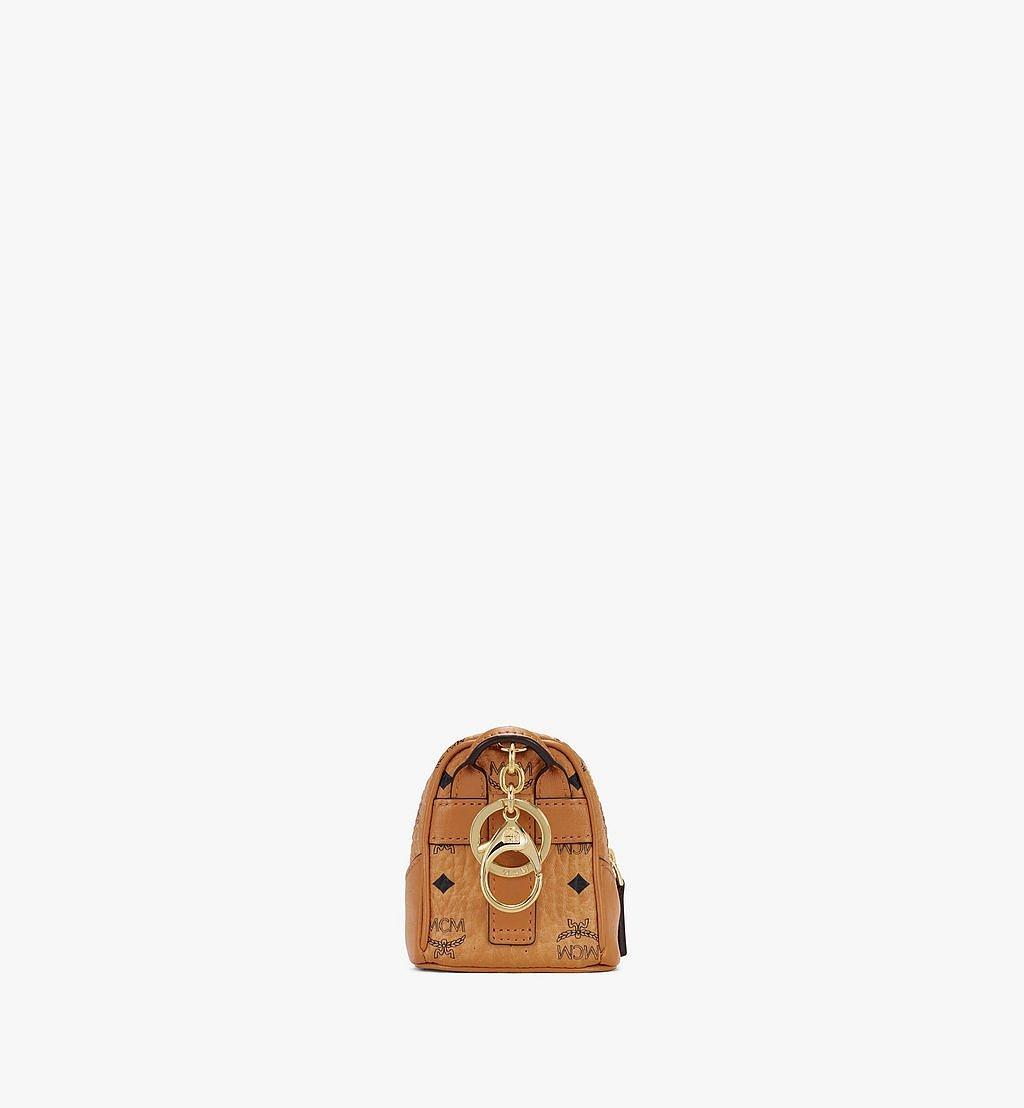 MCM Neo Duke Rucksack-Schlüsselanhänger in Visetos Cognac MXZASVI14CO001 Noch mehr sehen 2