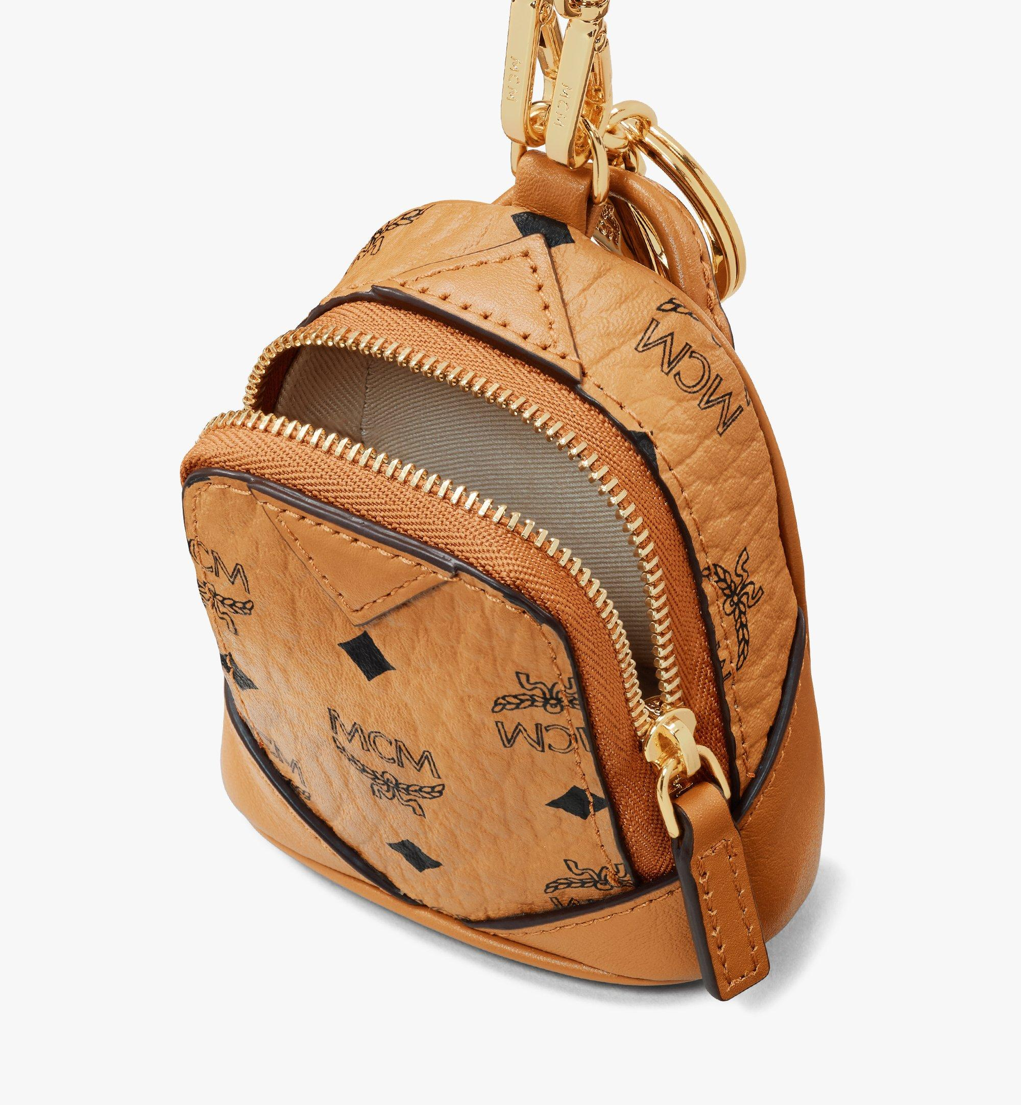 MCM Neo Duke Backpack Charm in Visetos Cognac MXZASVI14CO001 Alternate View 4