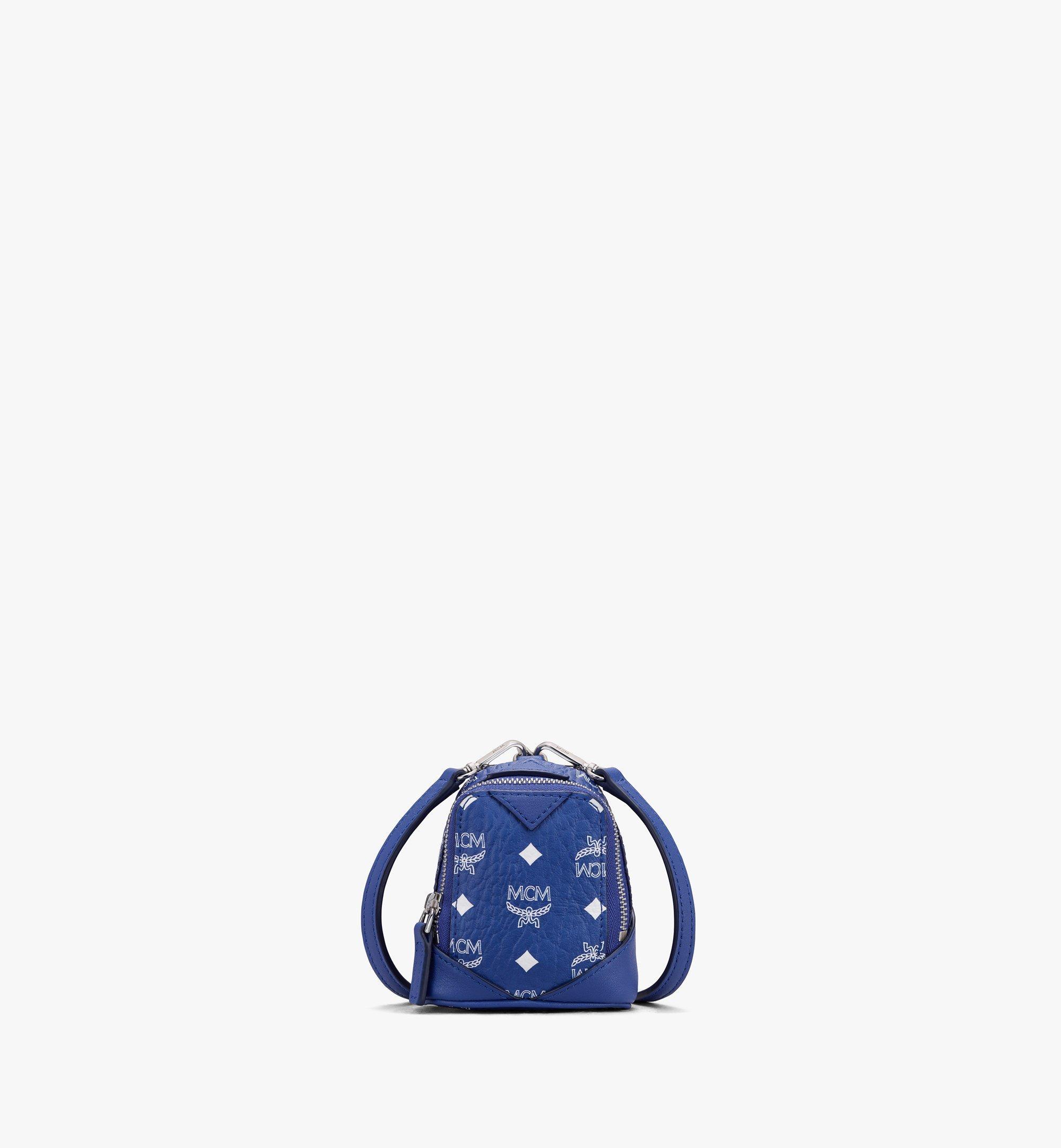 MCM Neo Duke Backpack Charm in Visetos Blue MXZASVI14H1001 Alternate View 1