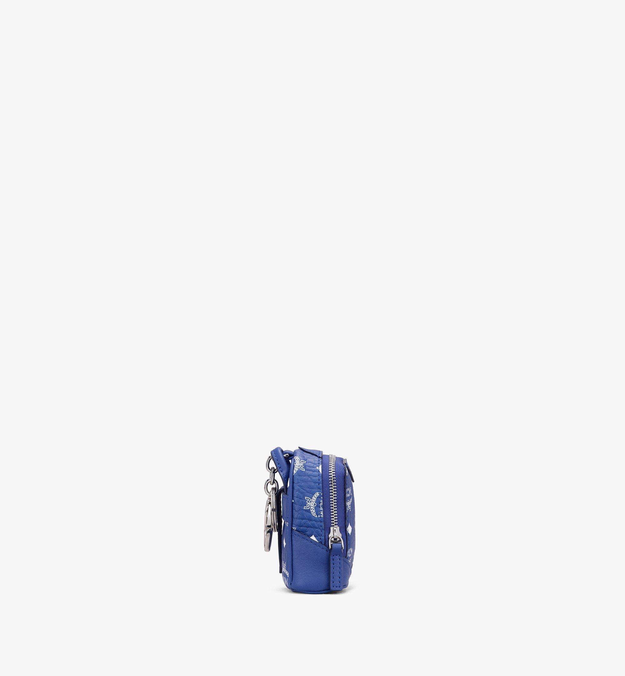 MCM Neo Duke Backpack Charm in Visetos Blue MXZASVI14H1001 Alternate View 2