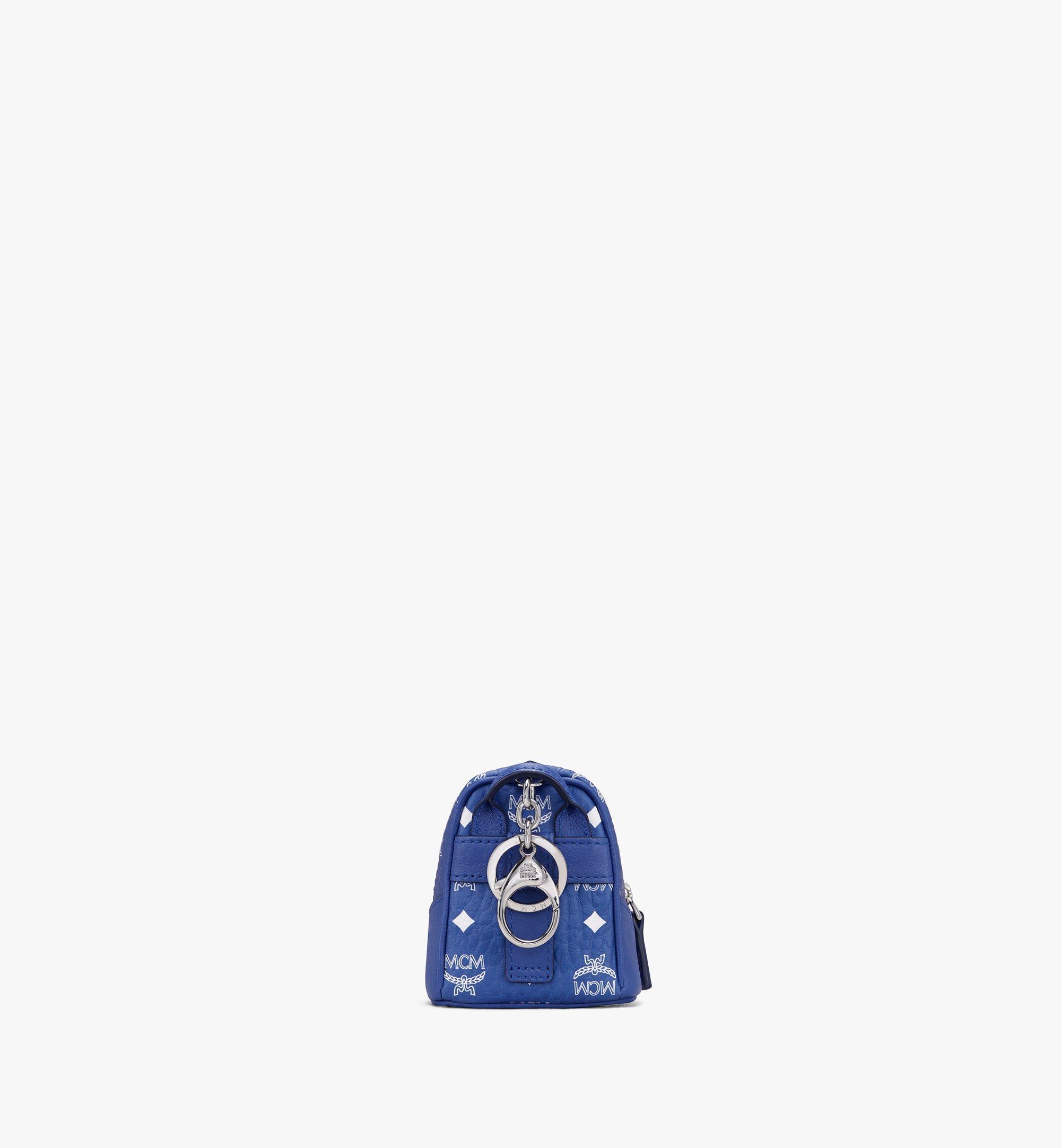 MCM Neo Duke Backpack Charm in Visetos Blue MXZASVI14H1001 Alternate View 3
