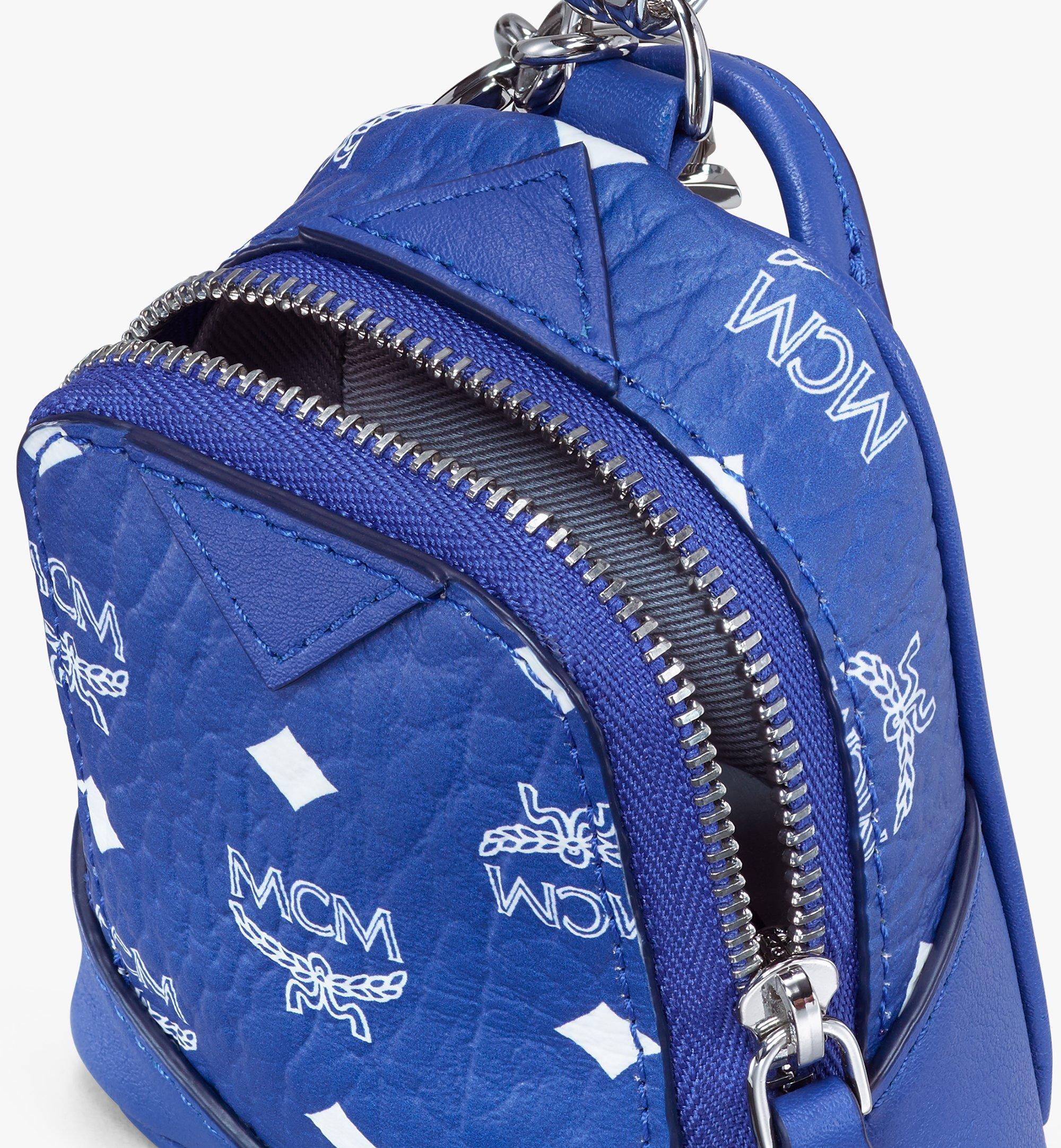 MCM Neo Duke Backpack Charm in Visetos Blue MXZASVI14H1001 Alternate View 4