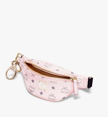 MCM Belt Bag Charm in Visetos Pink MXZASVI15QH001 Alternate View 3