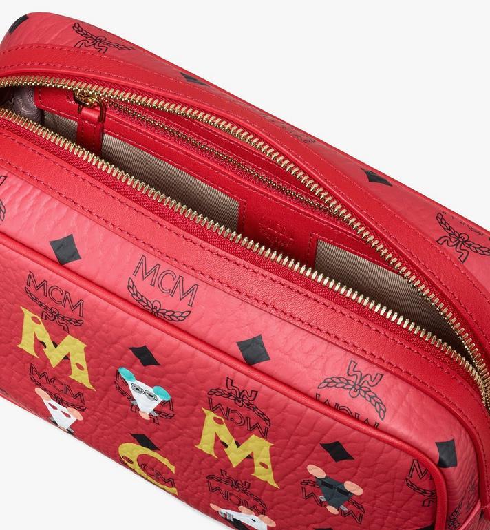"MCM イヤー・オブ・ザ・ラット"" ウォッシュバッグ Red MXZASXL01RJ001 Alternate View 4"