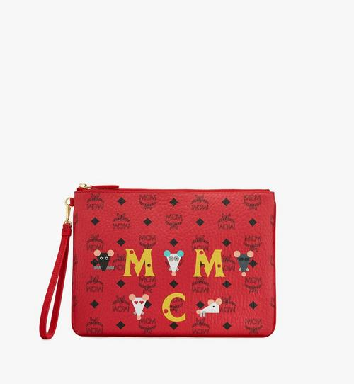 Year Of The Mouse Wristlet Zip Pouch