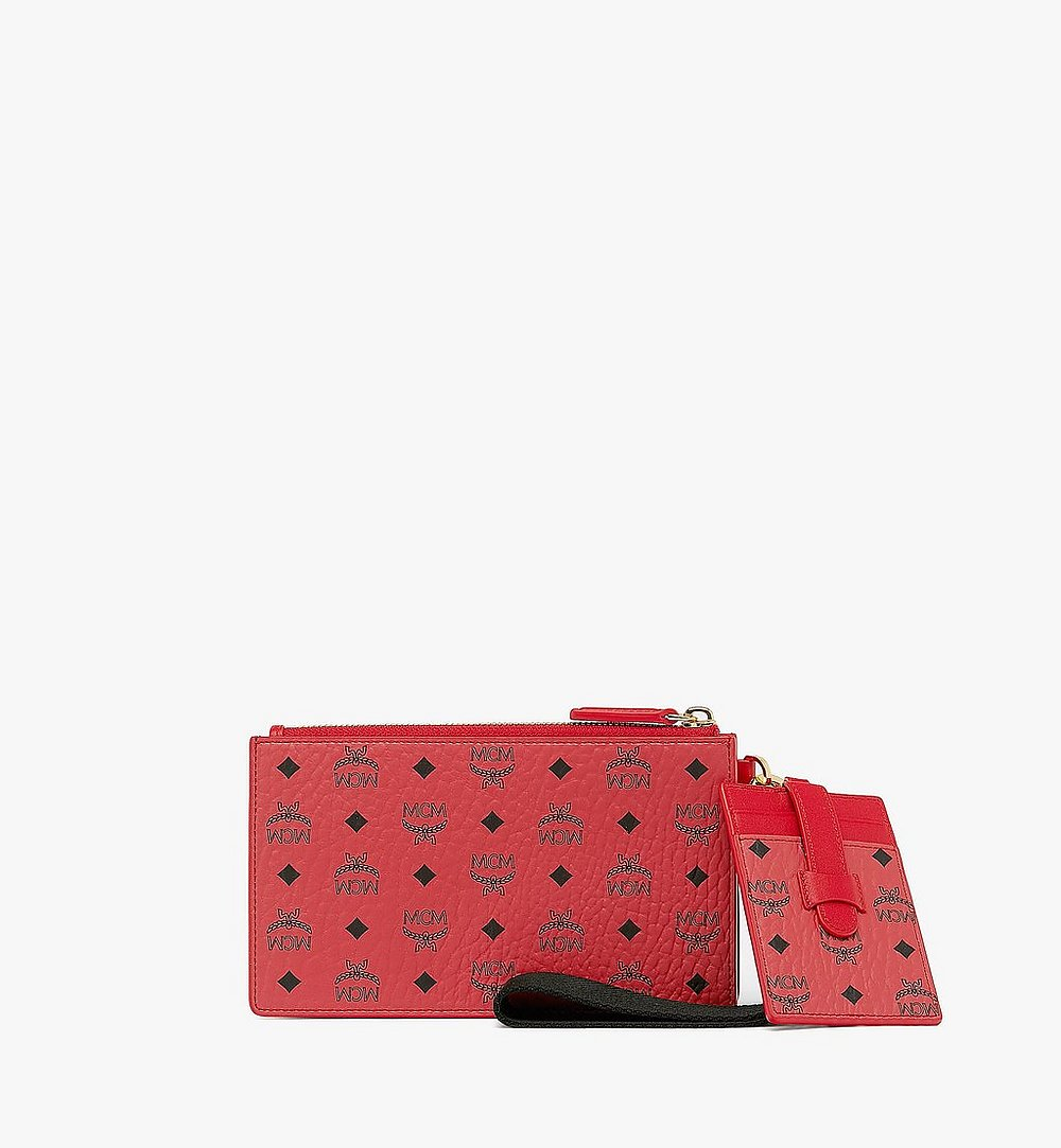 MCM Year Of The Mouse Multifunction Pouch Red MXZASXL03RJ001 Alternate View 1