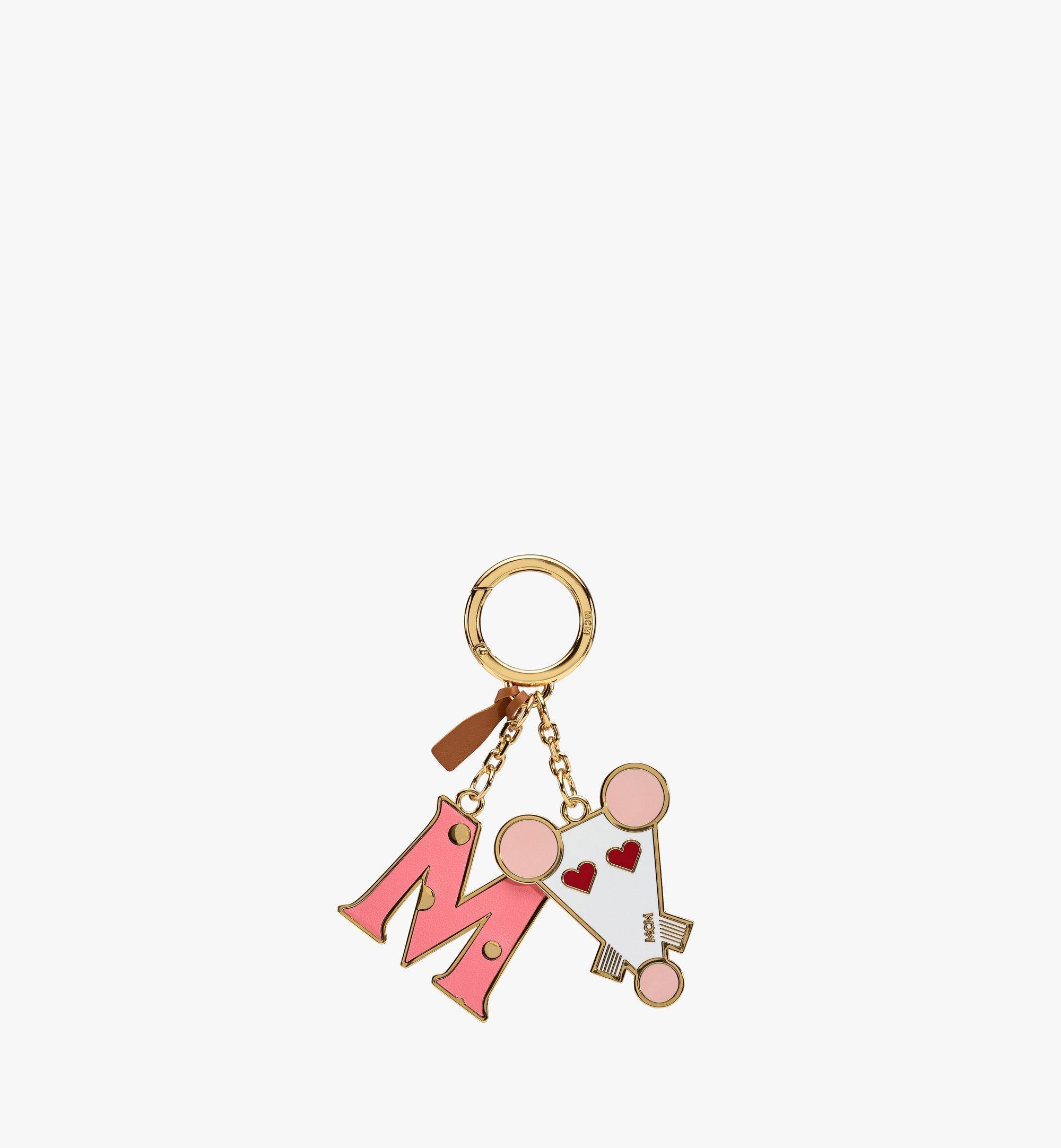 MCM 鼠年 2D 吊飾 Pink MXZASXL04QG001 更多視圖 1
