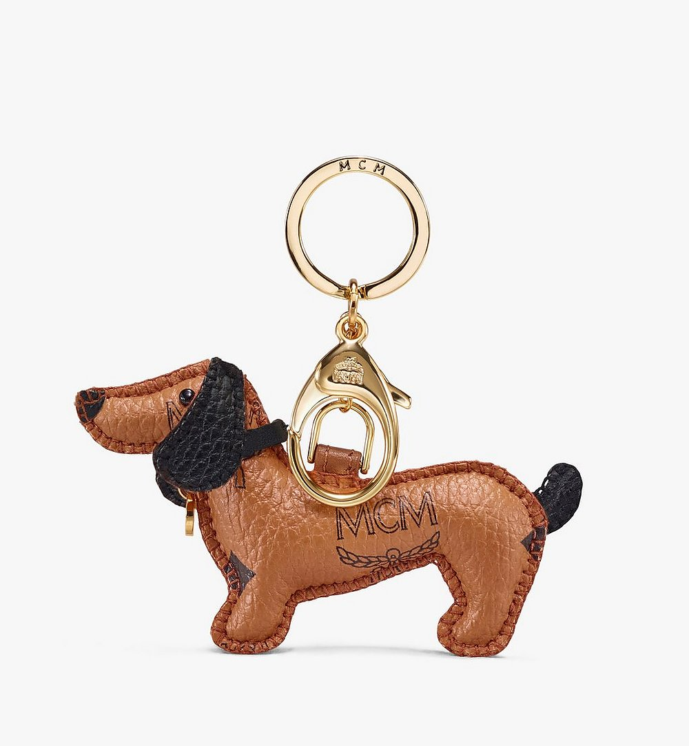 MCM 2D Dog Charm Cognac MXZASXL07CO001 Alternate View 1