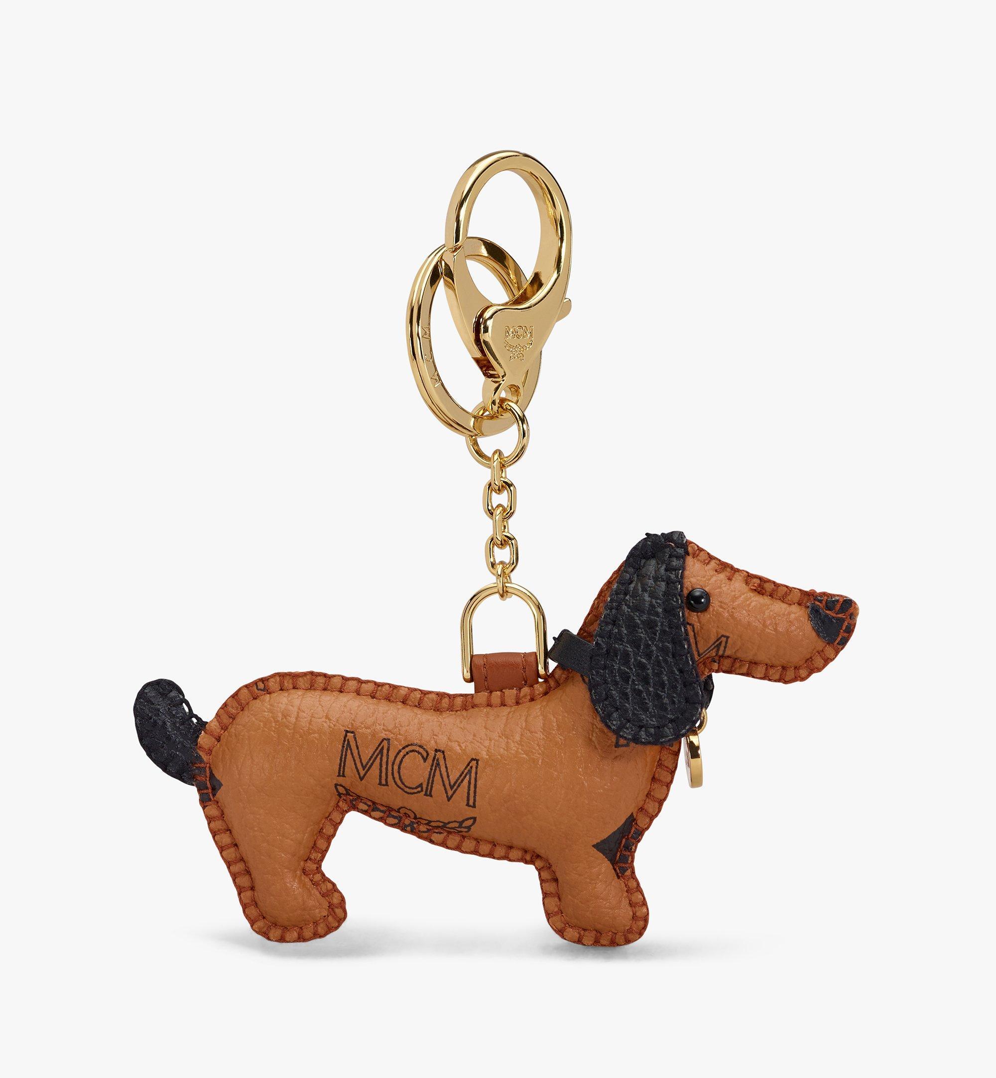 MCM 2D 小狗吊飾 Cognac MXZASXL07CO001 更多視圖 2