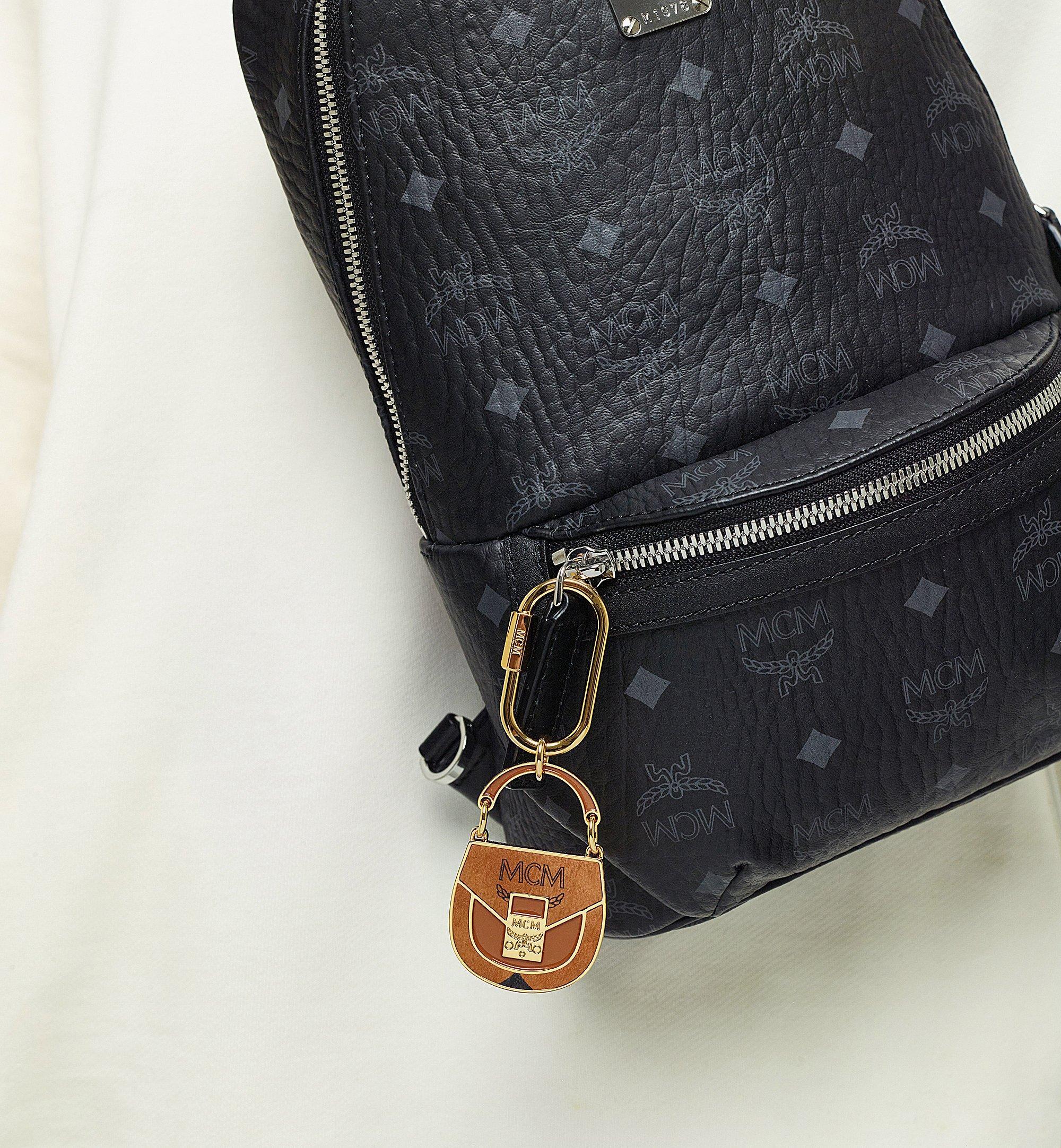 MCM Patricia Metal Bag Charm Cognac MXZBAMM03CO001 Alternate View 2