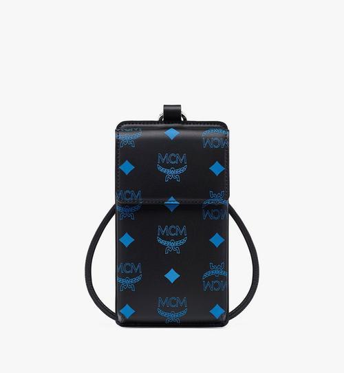 Smartphonehülle aus Leder mit Color-Splash-Logo und Schlüsselband