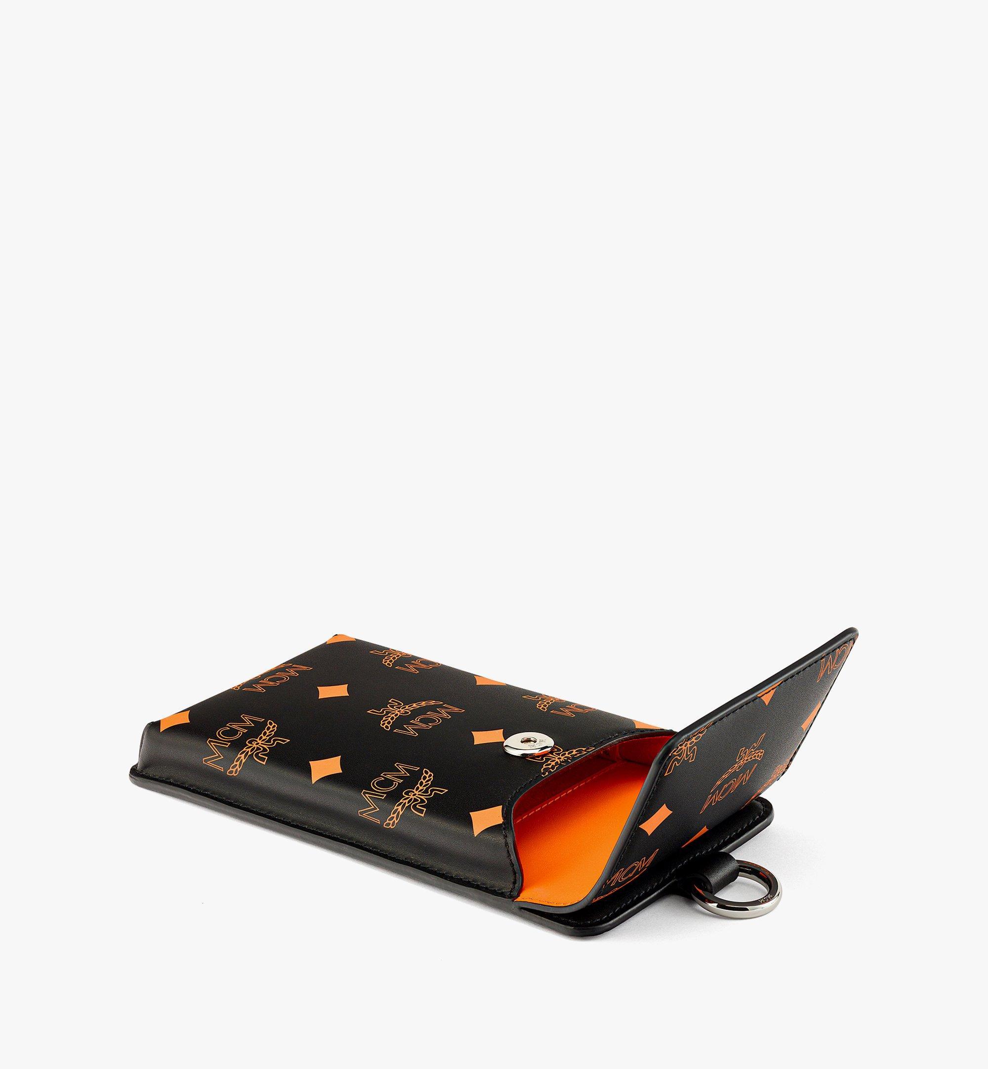 MCM 컬러 스플래시 로고 레더 랜야드 폰 케이스 Orange MXZBASX05O9001 다른 각도 보기 1