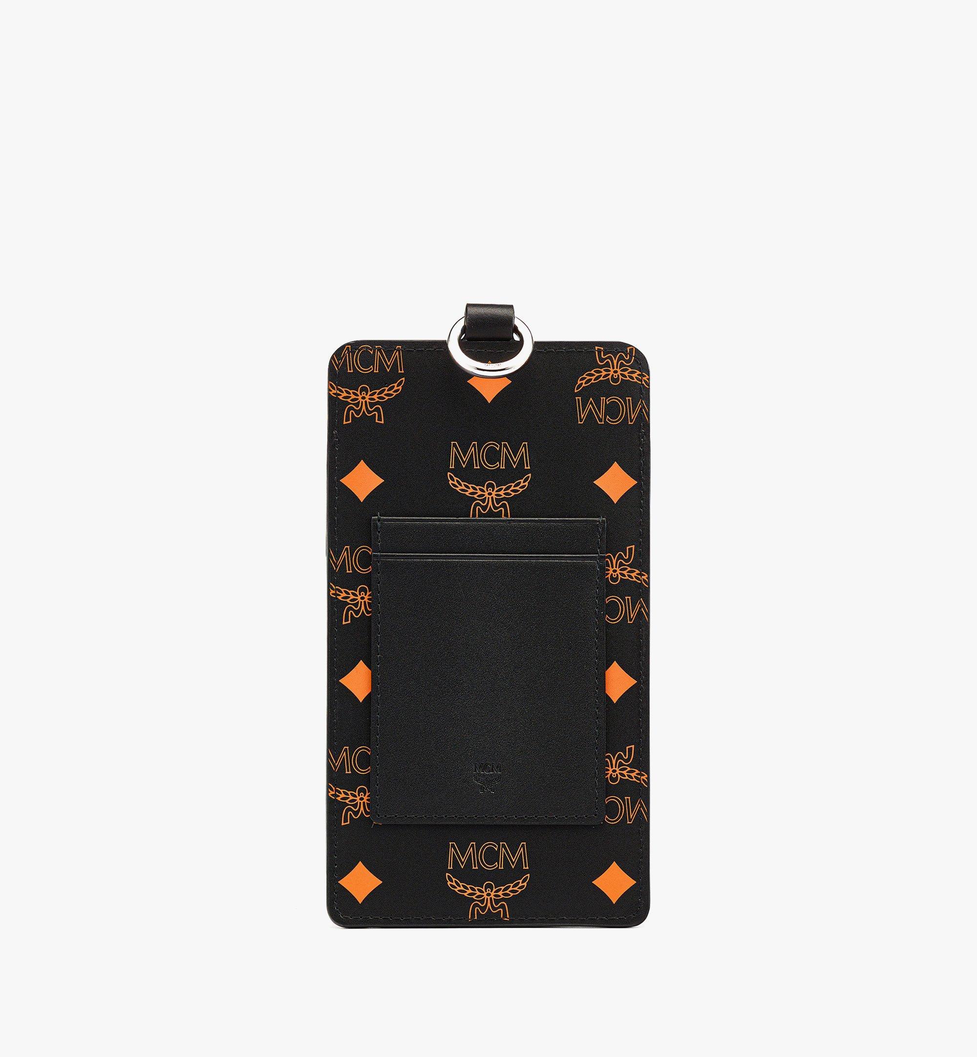 MCM 컬러 스플래시 로고 레더 랜야드 폰 케이스 Orange MXZBASX05O9001 다른 각도 보기 2