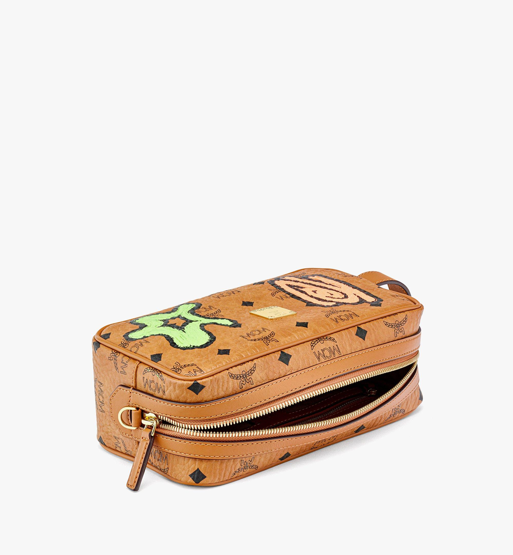 MCM Upcycling Project Wash Bag in Visetos Cognac MXZBAUP01CO001 Alternate View 2