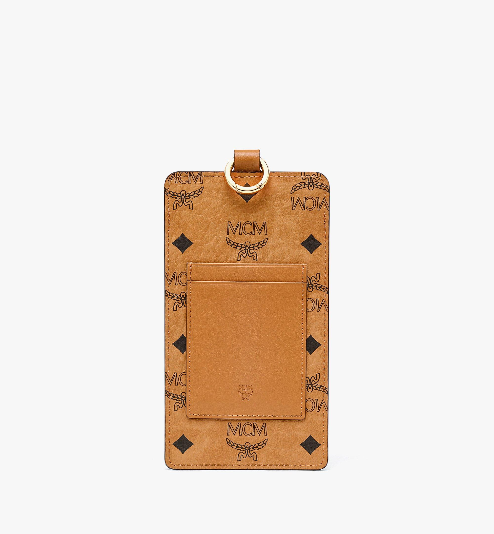 MCM Lanyard Phone Case in Visetos Original Cognac MXZBAVI01CO001 Alternate View 2