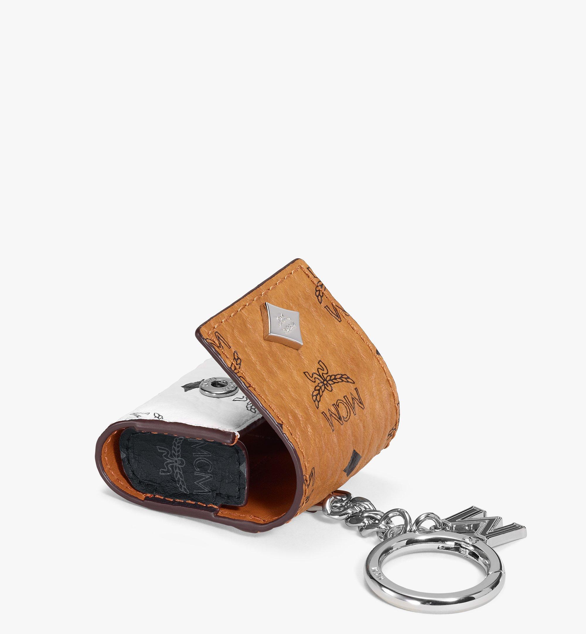 One Size AirPods Case in Color Block Visetos Cognac | MCM® US