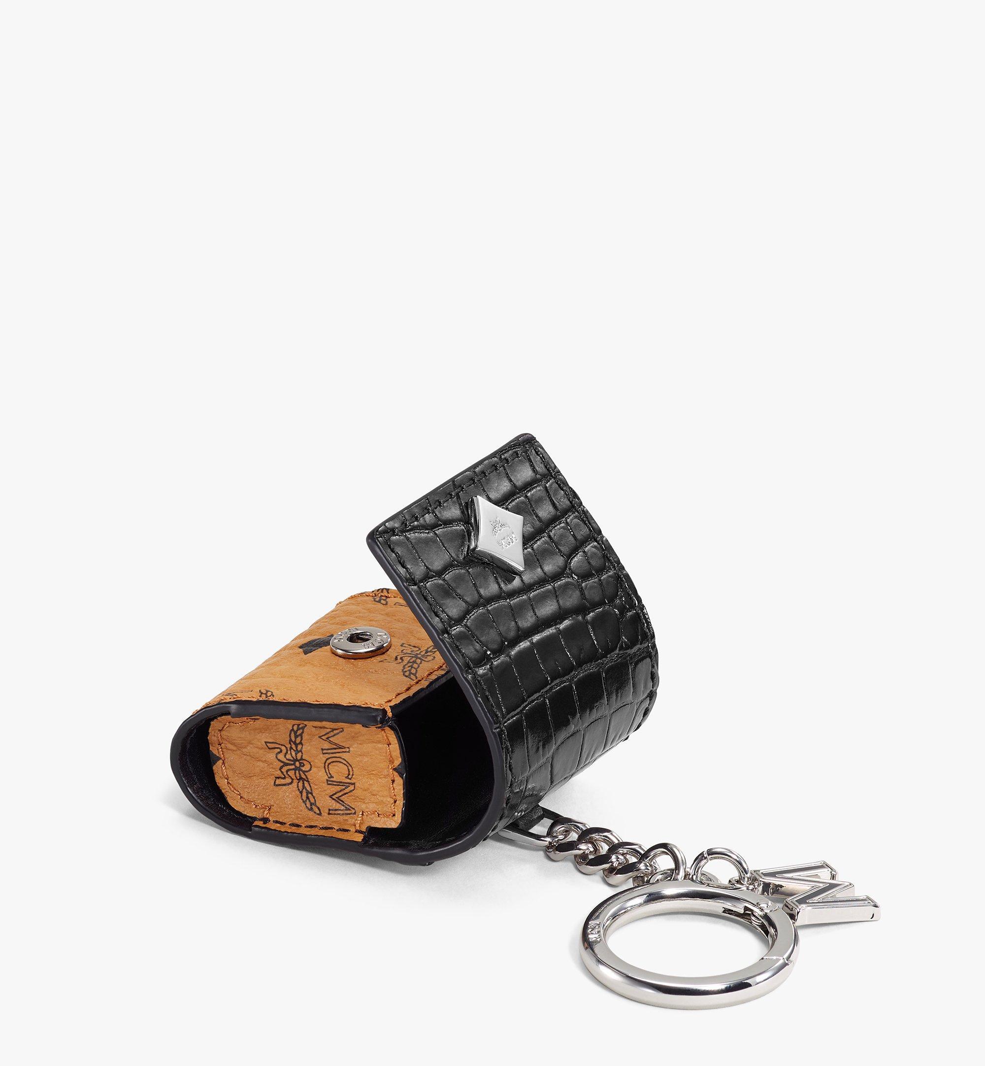 MCM 鱷魚紋混搭 Visetos 系列 AirPods 保護盒 Black MXZBSMM03BK001 更多視圖 2