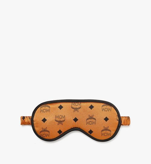 Masque pour les yeux réversible en satin de soie monogrammée