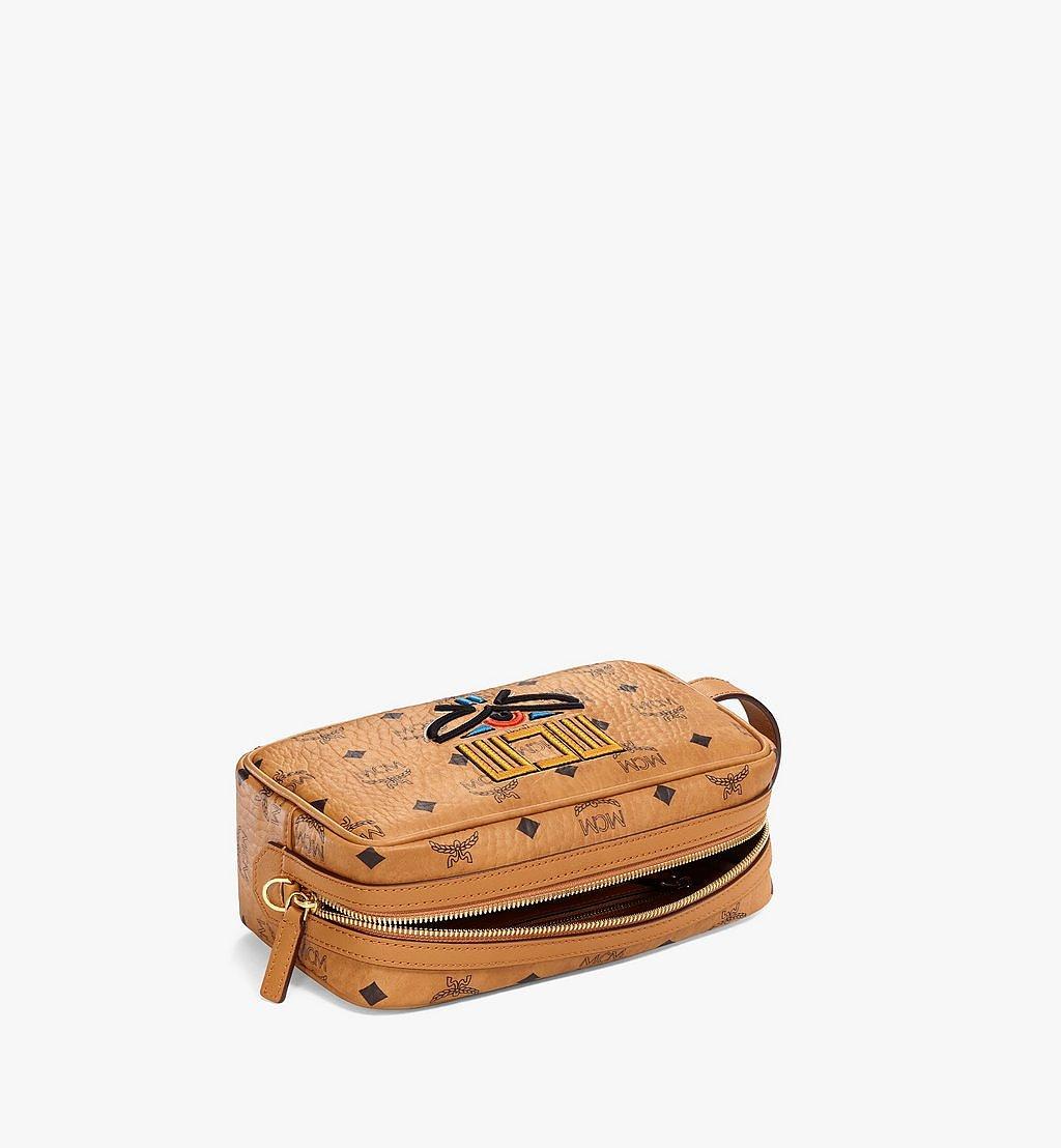 MCM Wash Bag in Geo Laurel Visetos Cognac MXZBSSX02CO001 Alternate View 2