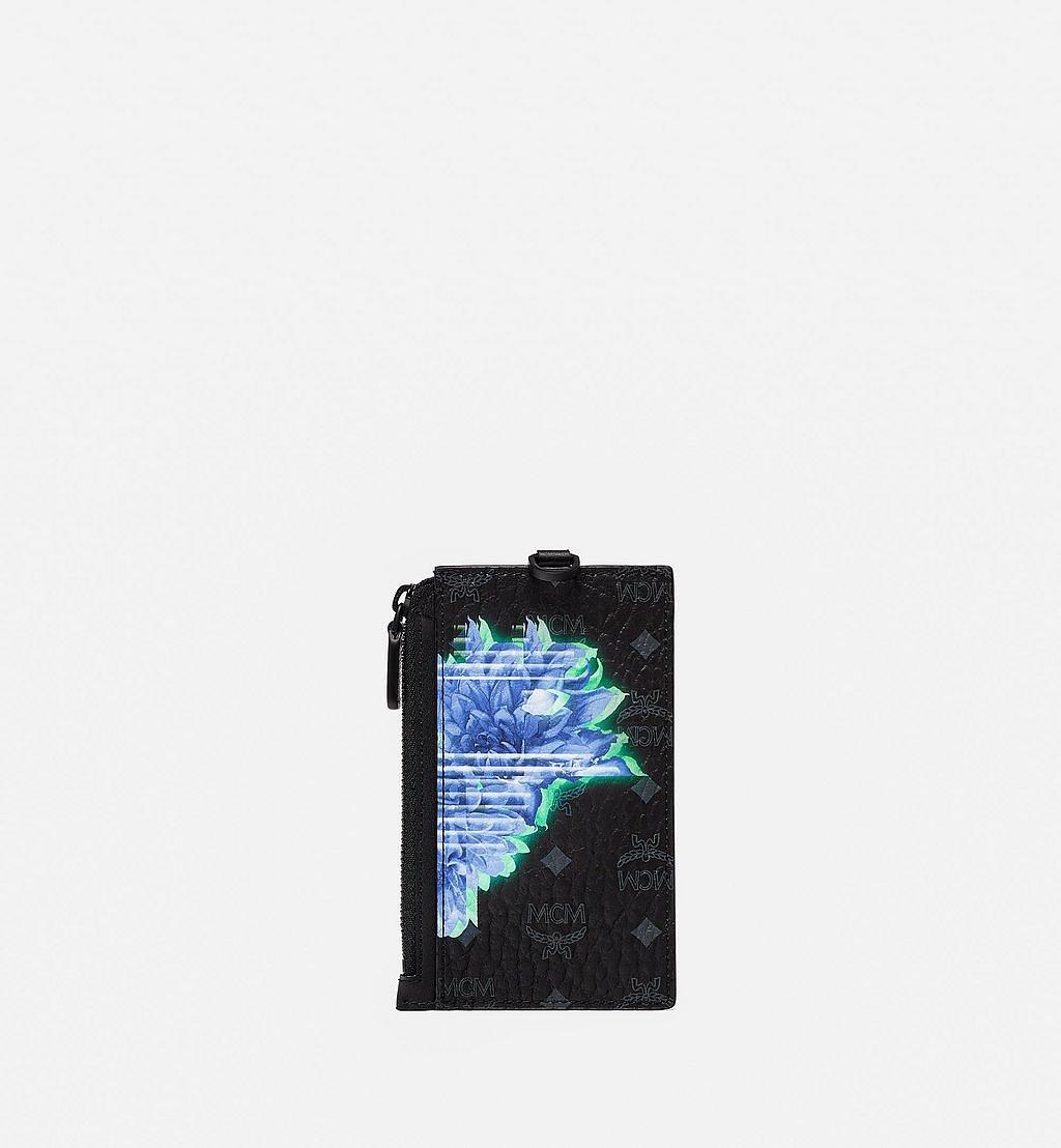 MCM Kartenetui in Tech Flower Visetos mit Schlüsselband Black MXZBSSX04BK001 Noch mehr sehen 2