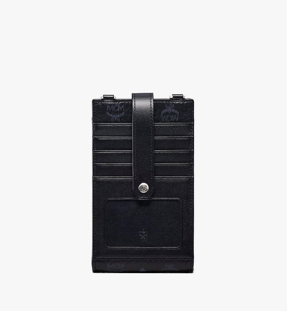MCM Multifunction Phone Case in Visetos Original Black MXZBSVI01BK001 Alternate View 2