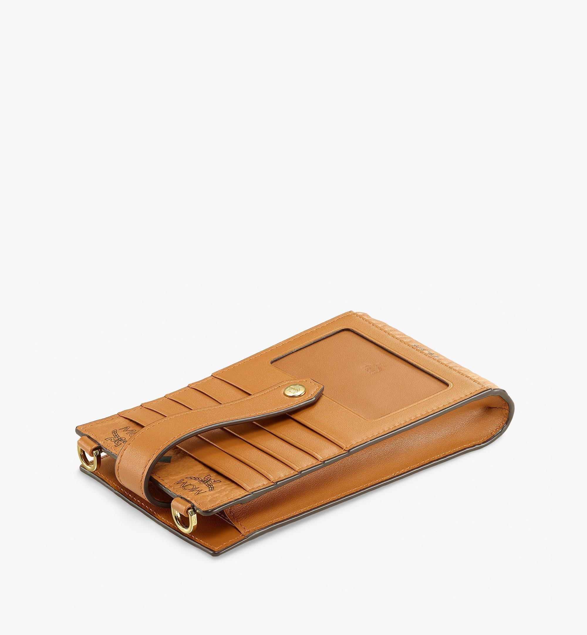 MCM Multifunction Phone Case in Visetos Original Cognac MXZBSVI01CO001 Alternate View 1