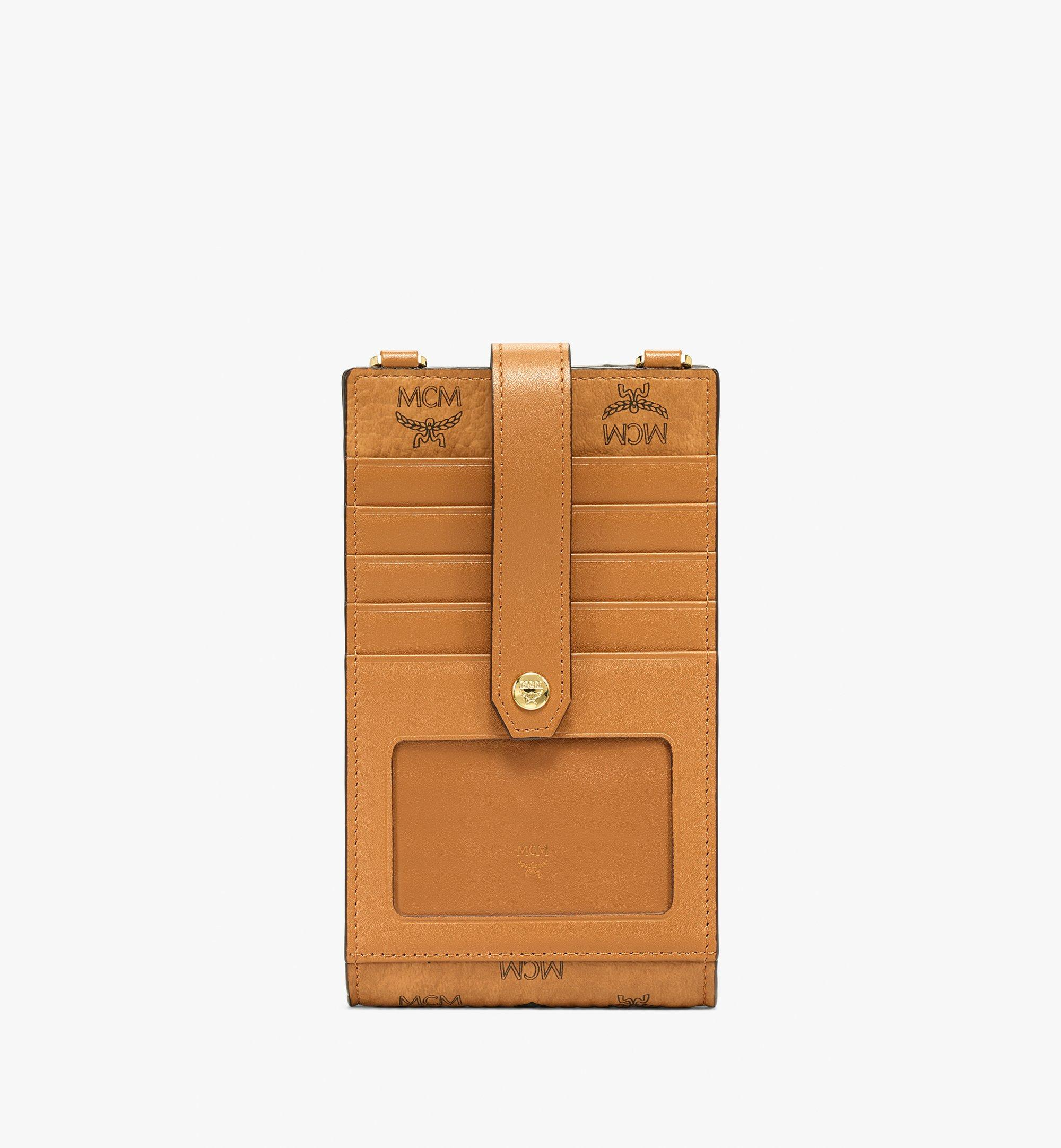 MCM Multifunction Phone Case in Visetos Original Cognac MXZBSVI01CO001 Alternate View 2