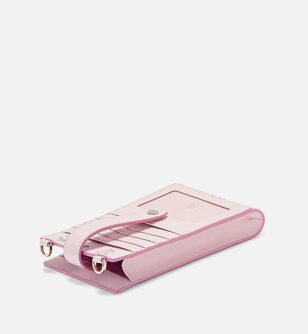 MCM Multifunction Phone Case in Visetos Original Pink MXZBSVI01QH001 Alternate View 1