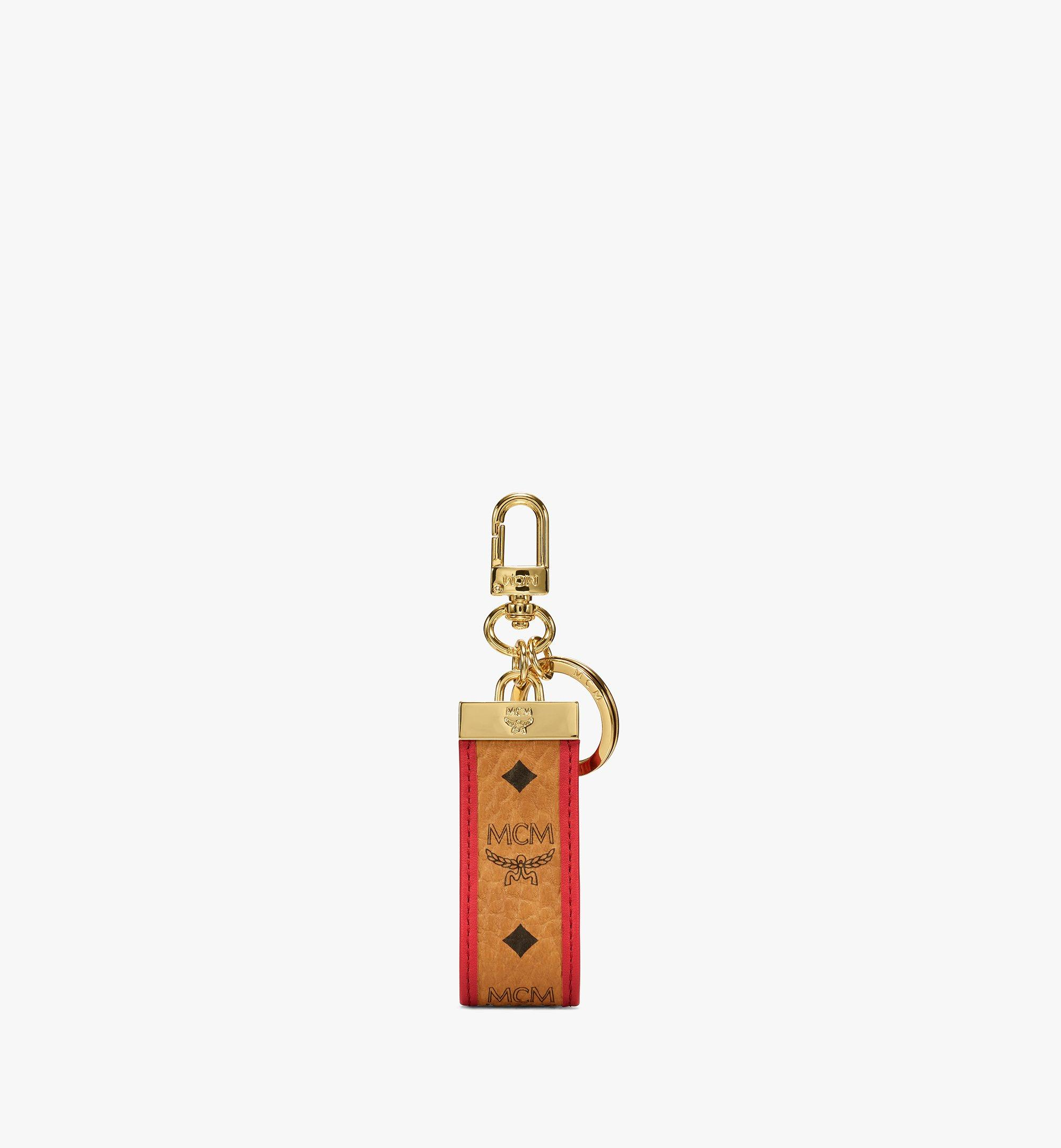 MCM Key Ring in Visetos Original Red MXZBSVI02R4001 Alternate View 1