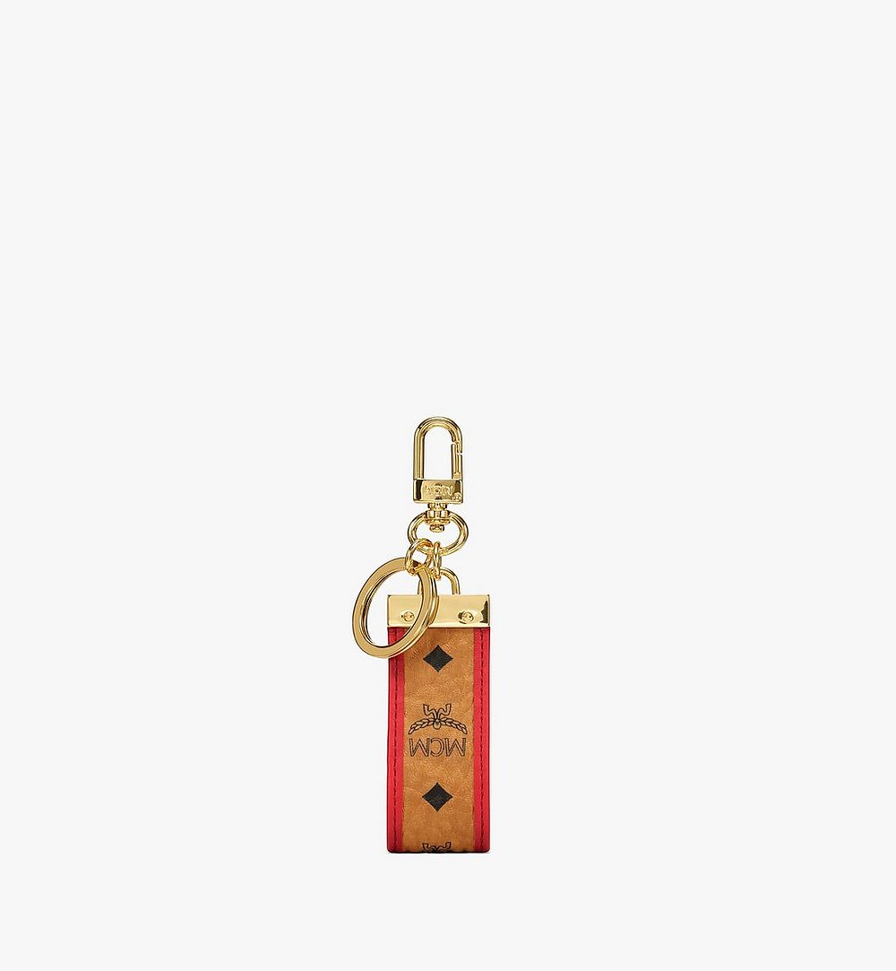 MCM Key Ring in Visetos Original Red MXZBSVI02R4001 Alternate View 1