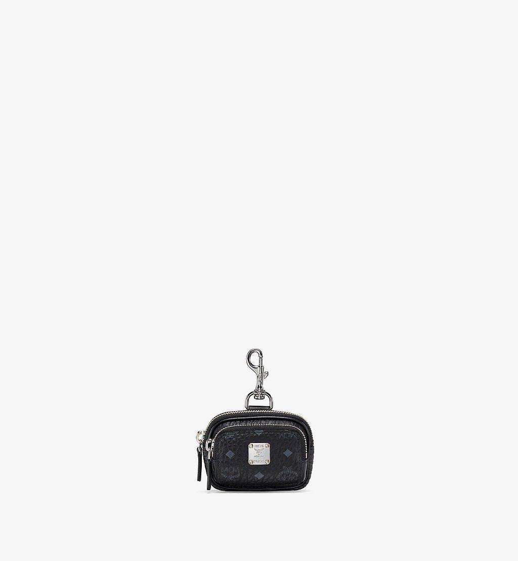 MCM E/W Pouch Charm w/ Pocket in Visetos Original Black MXZBSVI08BK001 Alternate View 1