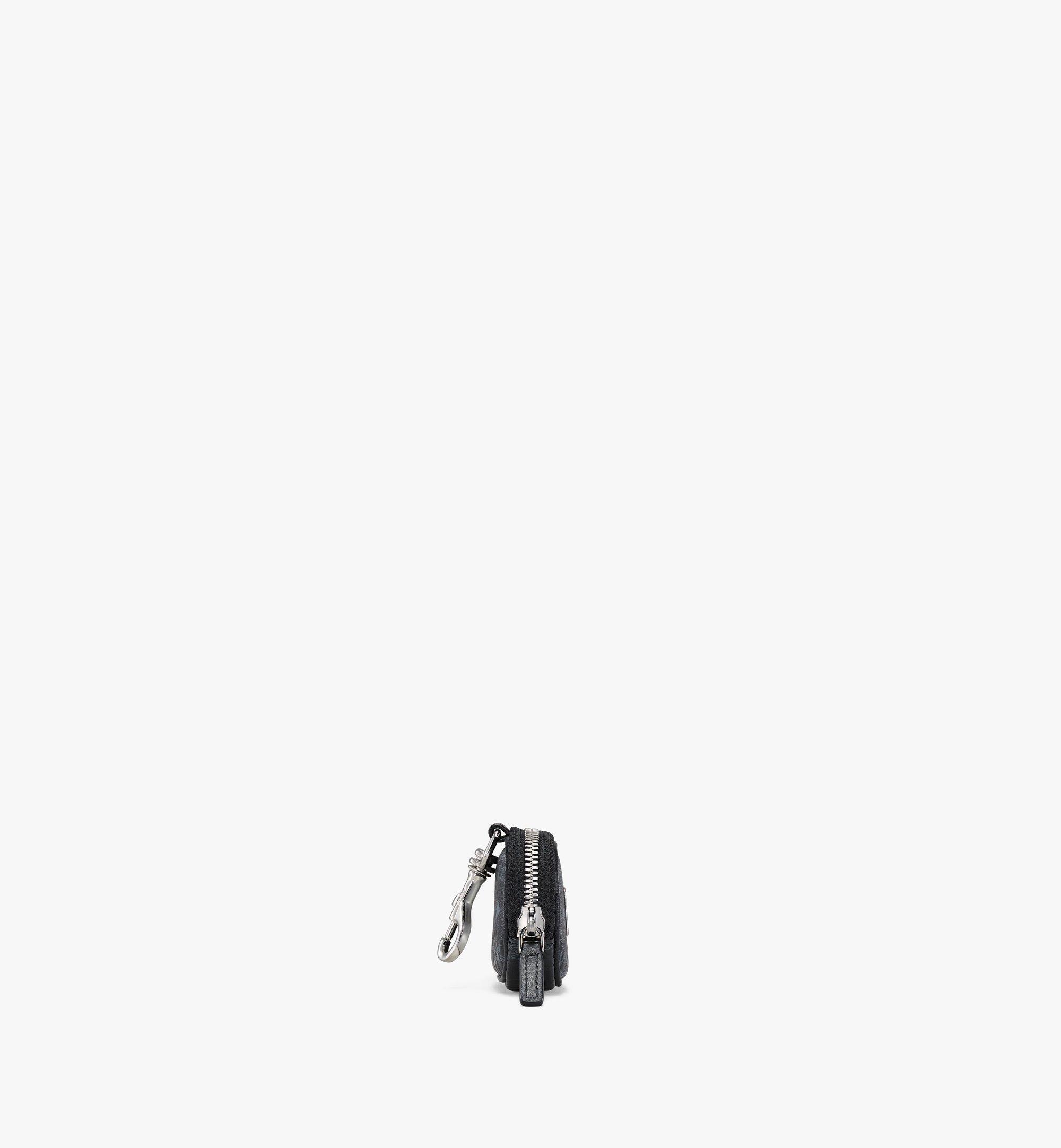 MCM E/W Pouch Charm in Visetos Original Black MXZBSVI09BK001 Alternate View 1