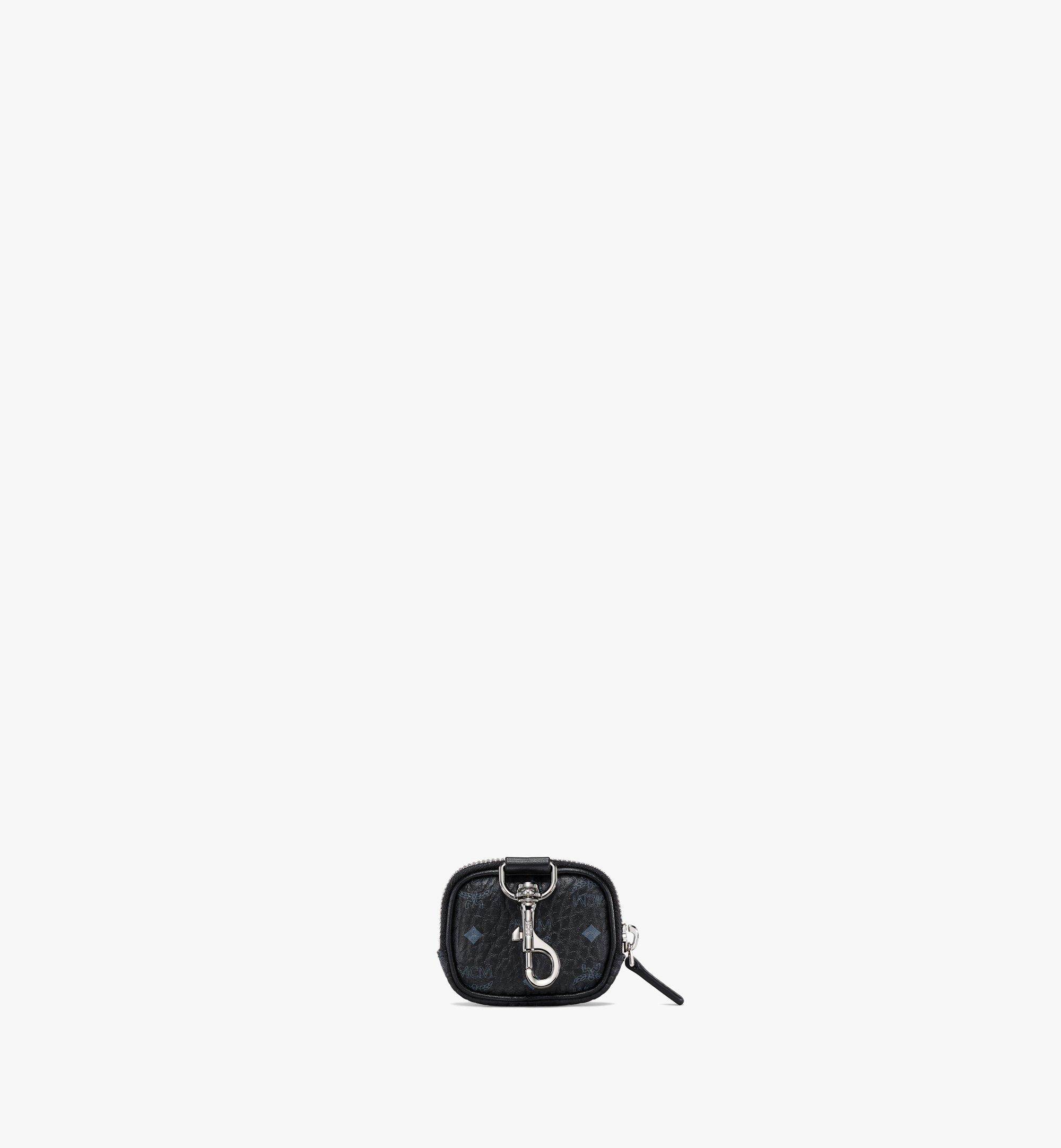 MCM E/W Pouch Charm in Visetos Original Black MXZBSVI09BK001 Alternate View 3