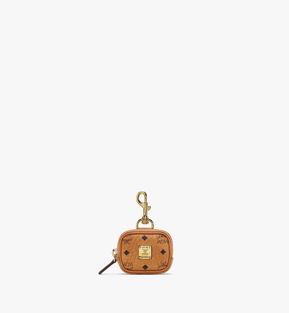 MCM E/W Pouch Charm in Visetos Original Cognac MXZBSVI09CO001 Alternate View 1