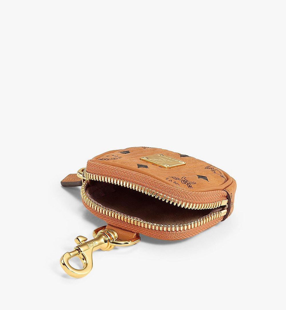 MCM E/W Pouch Charm in Visetos Original Cognac MXZBSVI09CO001 Alternate View 2