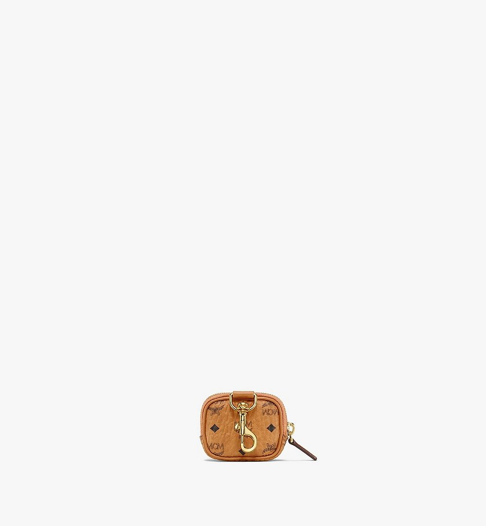 MCM E/W Pouch Charm in Visetos Original Cognac MXZBSVI09CO001 Alternate View 3