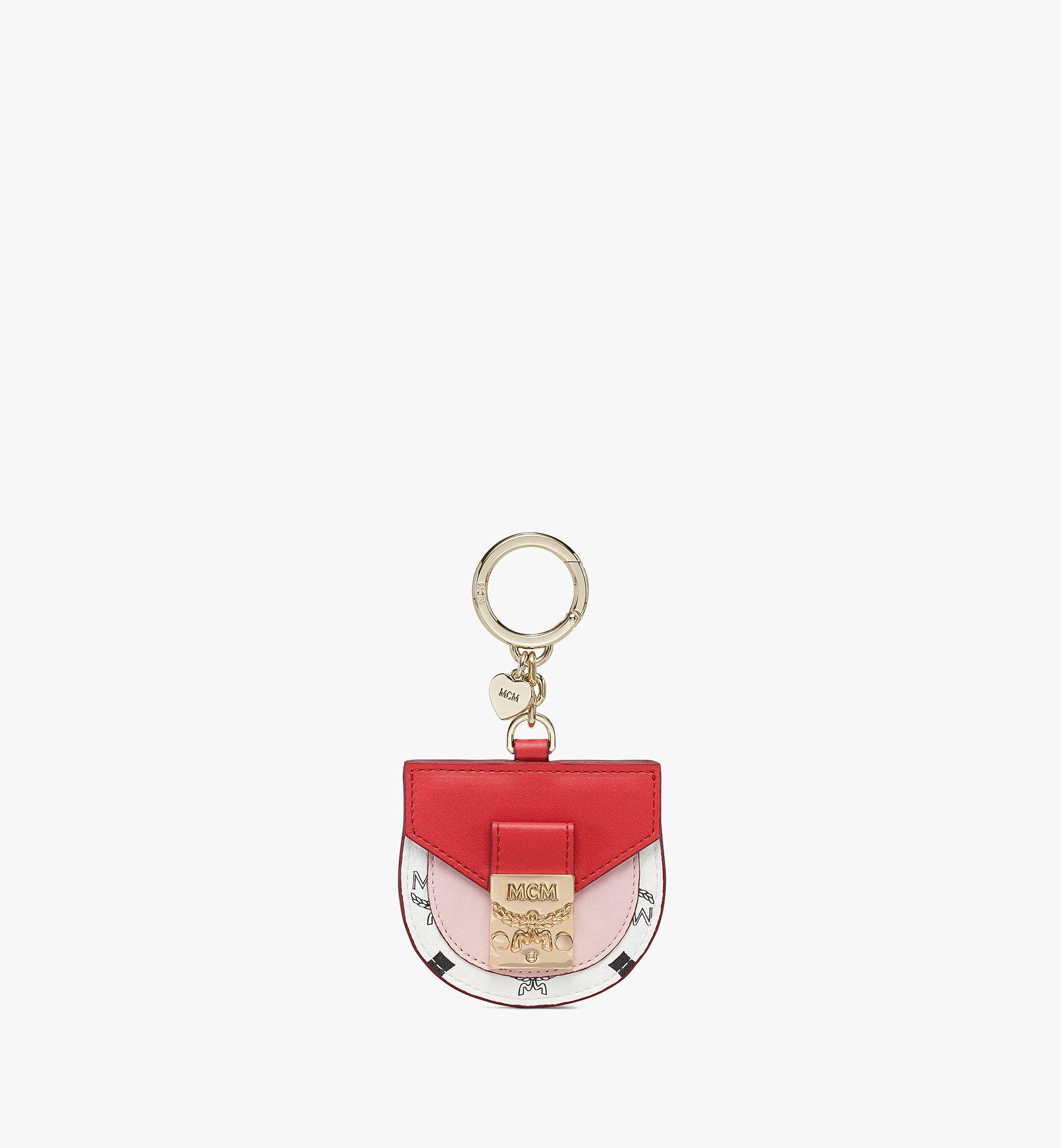MCM Patricia 2D Bag Charm in Visetos Leather Mix Pink MXZBSVI12R4001 Alternate View 1