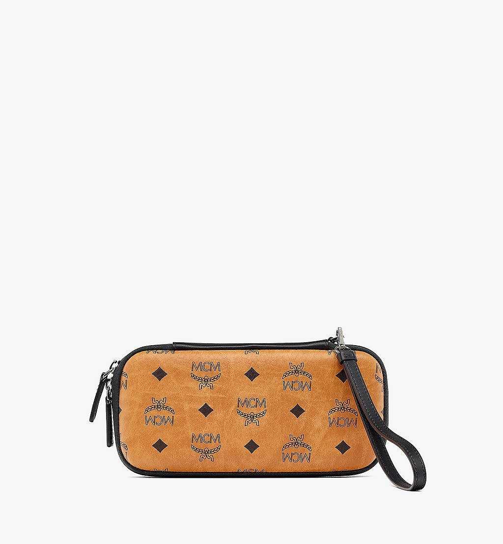 MCM Game Console Case with Wristlet in Visetos Cognac MXZBSVI17CO001 Alternate View 1
