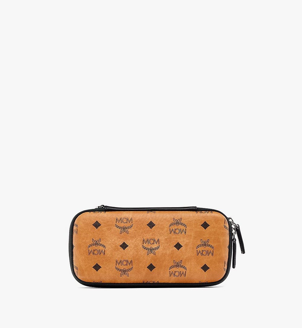 MCM Game Console Case with Wristlet in Visetos Cognac MXZBSVI17CO001 Alternate View 2