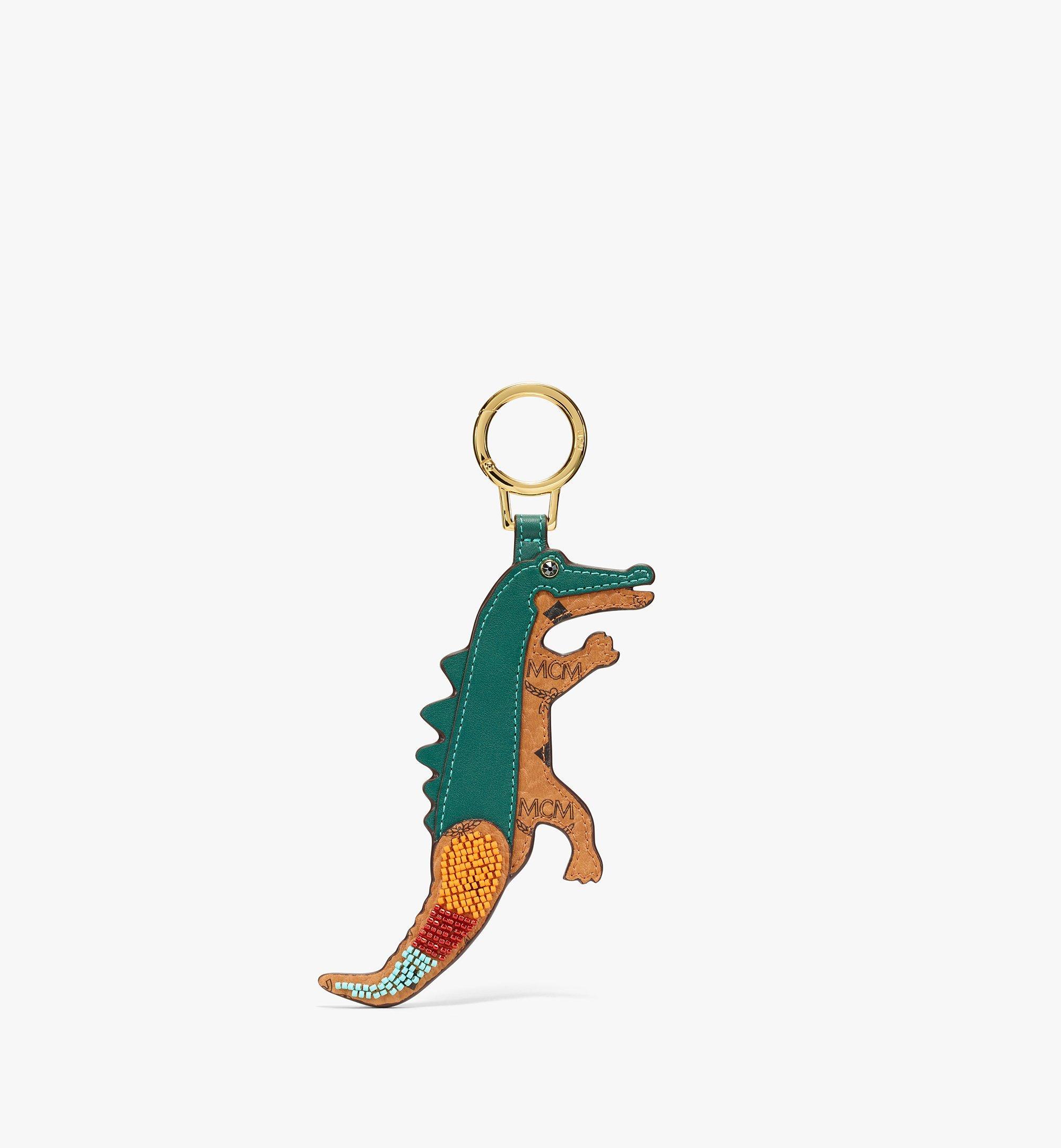 MCM MCM Zoo 2D Crocodile Charm in Visetos Cognac MXZBSXL04CO001 Alternate View 1
