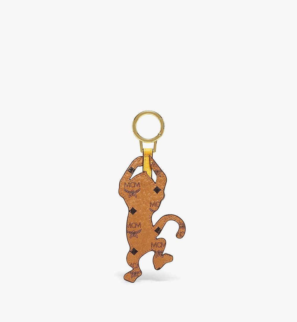MCM MCM Zoo 2D Monkey Charm in Visetos Cognac MXZBSXL05CO001 Alternate View 1