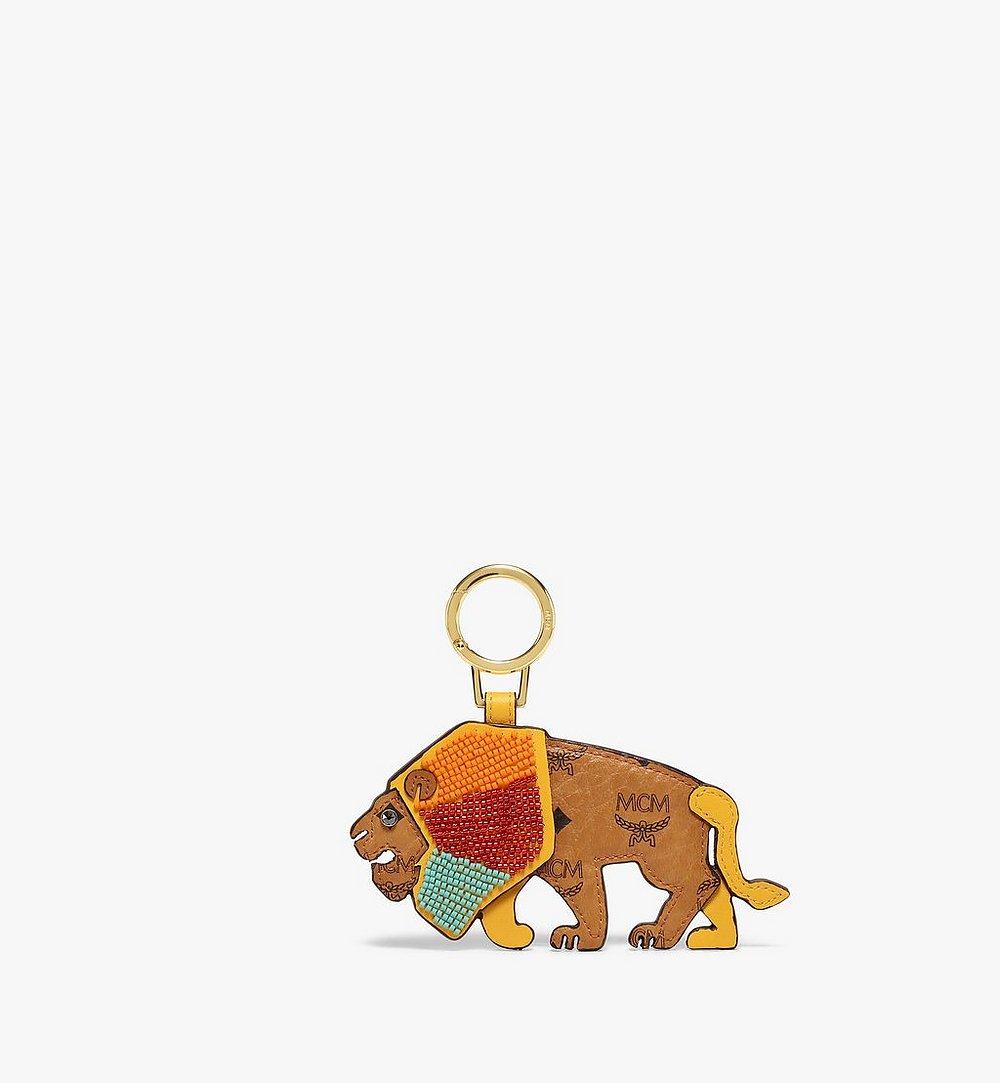 MCM MCM Zoo 2D Lion Charm in Visetos Cognac MXZBSXL07CO001 Alternate View 1
