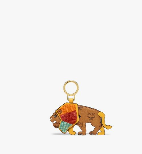 MCM Zoo 2D Lion Charm in Visetos