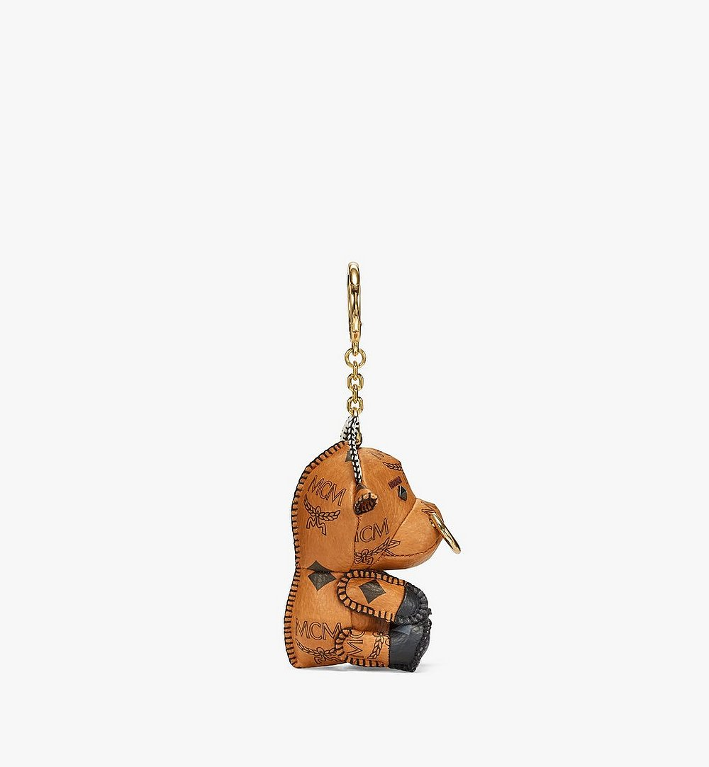 MCM New Year Ox Charm in Visetos Cognac MXZBSXL09CO001 Alternate View 1