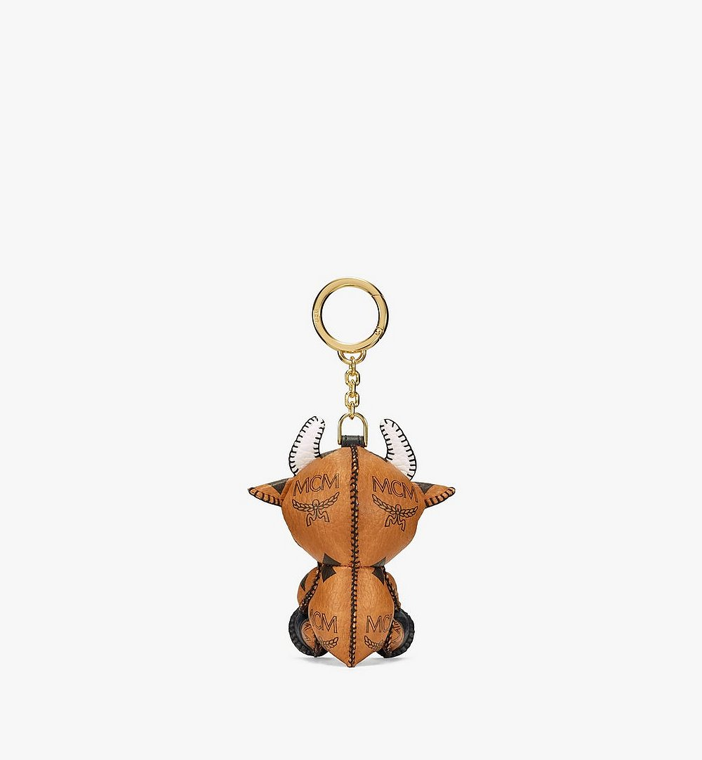 MCM New Year Ox Charm in Visetos Cognac MXZBSXL09CO001 Alternate View 2