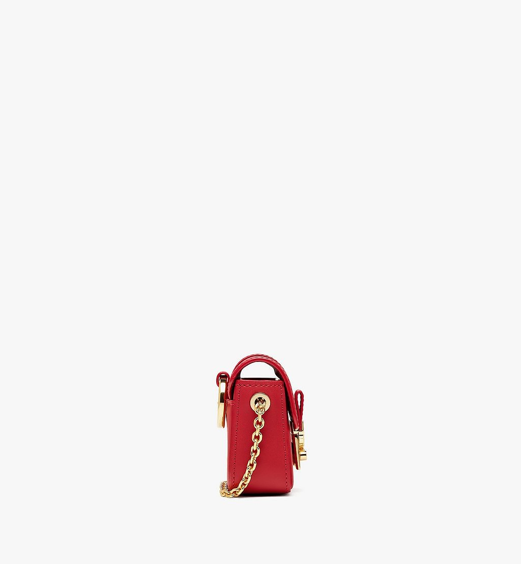 MCM Tracy AirPods Case in Vachetta Leather Red MXZBSXT02RU001 Alternate View 1