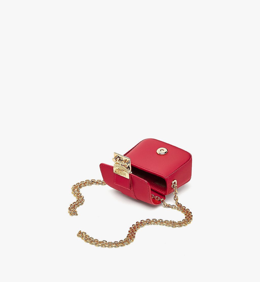 MCM Tracy AirPods Case in Vachetta Leather Red MXZBSXT02RU001 Alternate View 2