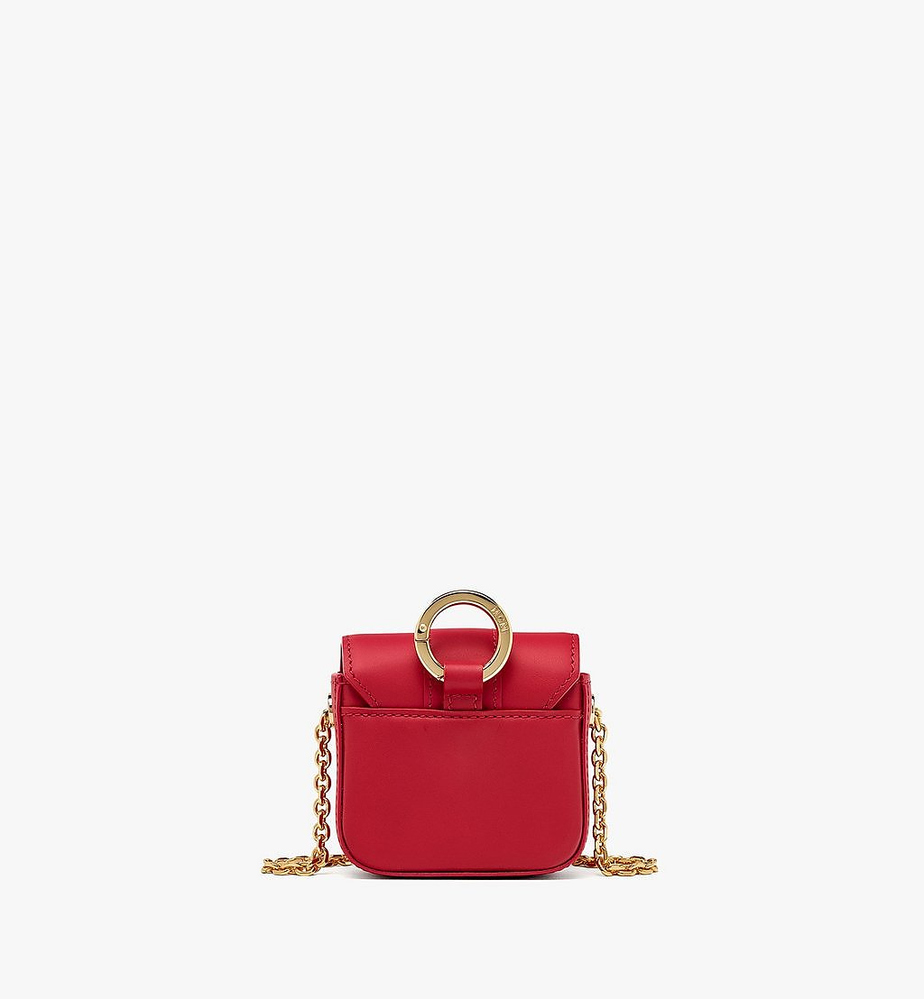 MCM Tracy AirPods Case in Vachetta Leather Red MXZBSXT02RU001 Alternate View 3